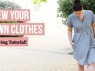 How to add lining to ANY dress pattern | Sewing Tutorial