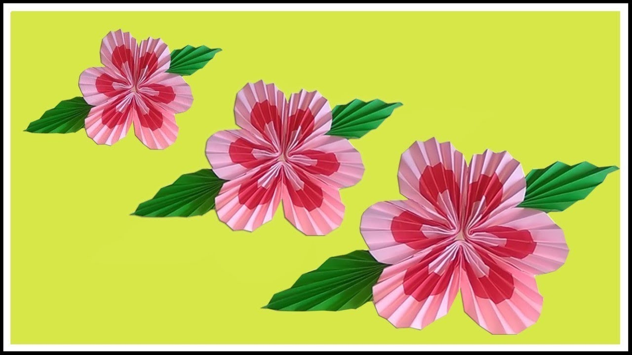 Tutorial How To Make 3d Paper Flowers Wall Decoration Easy Easy