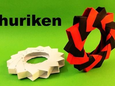 How To Make a Paper Ninja Star Shuriken - Origami modular