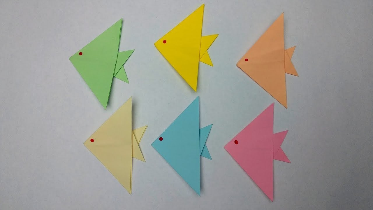 how to make an easy origami fish step by step