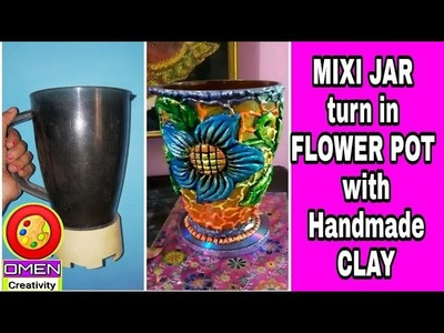 How to make handmade CLAY pot, recycle waste MIXI JAR,#Best out of waste