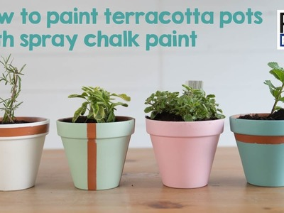 How to paint flower pots with chalk paint | DIY.Garden