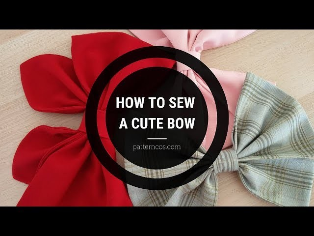How to sew a cute bow | Sewing Cosplay Tutorial