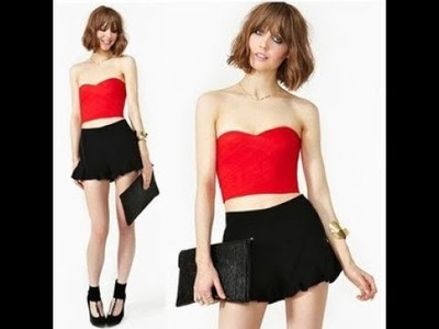 How To Sew # Strapless crop top.Sewing.Cutting.DIY