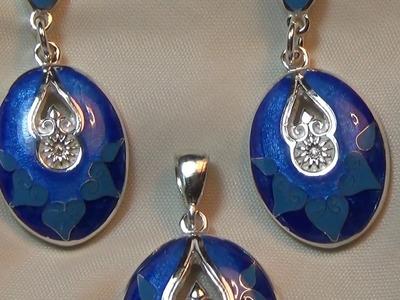 Jewelry making process. Enamel making.