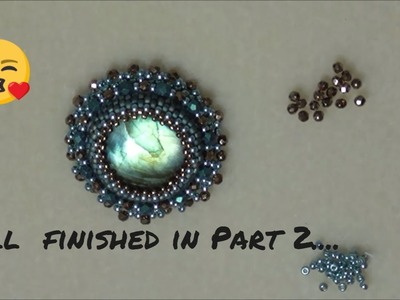 Onto Part 2 . the finished Bead Embroidery Design . . .