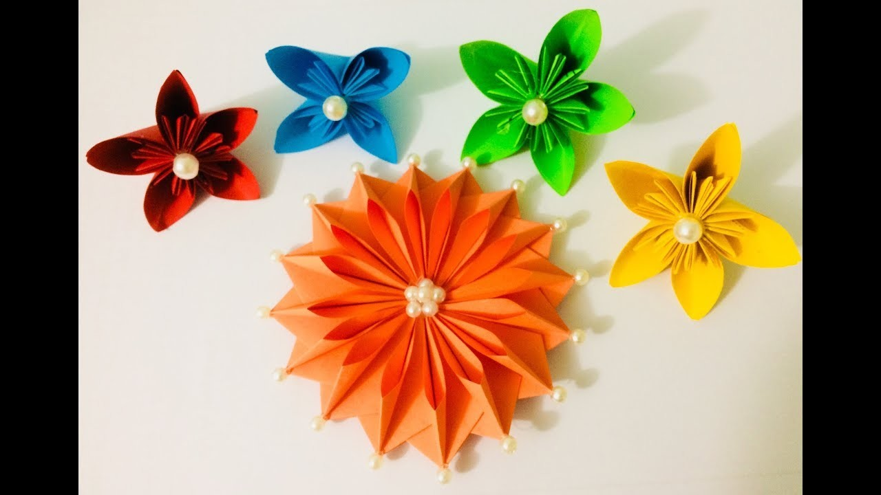 Origami Paper Flowers Easy Channel