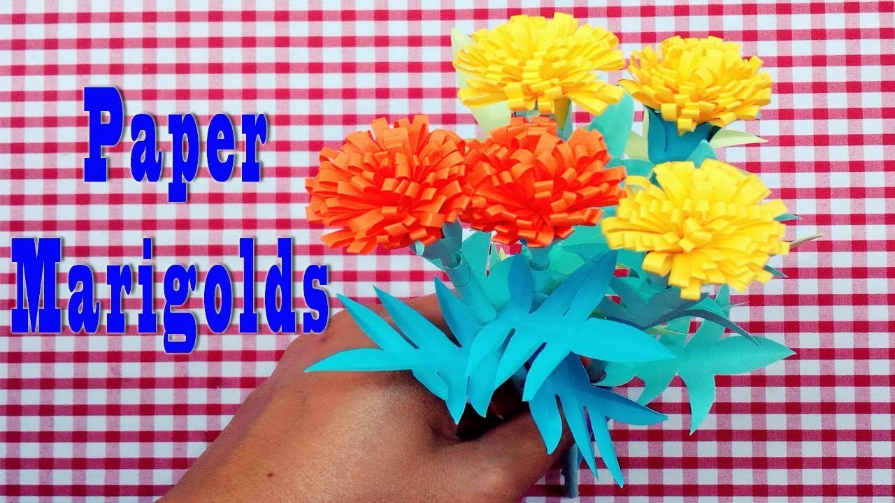 Origami Paper How To Make Marigold Paper Flowers Marigold Flower