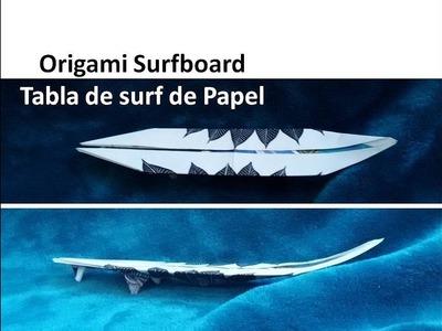 #Origami Surfboard - Tabla de surf de Papel