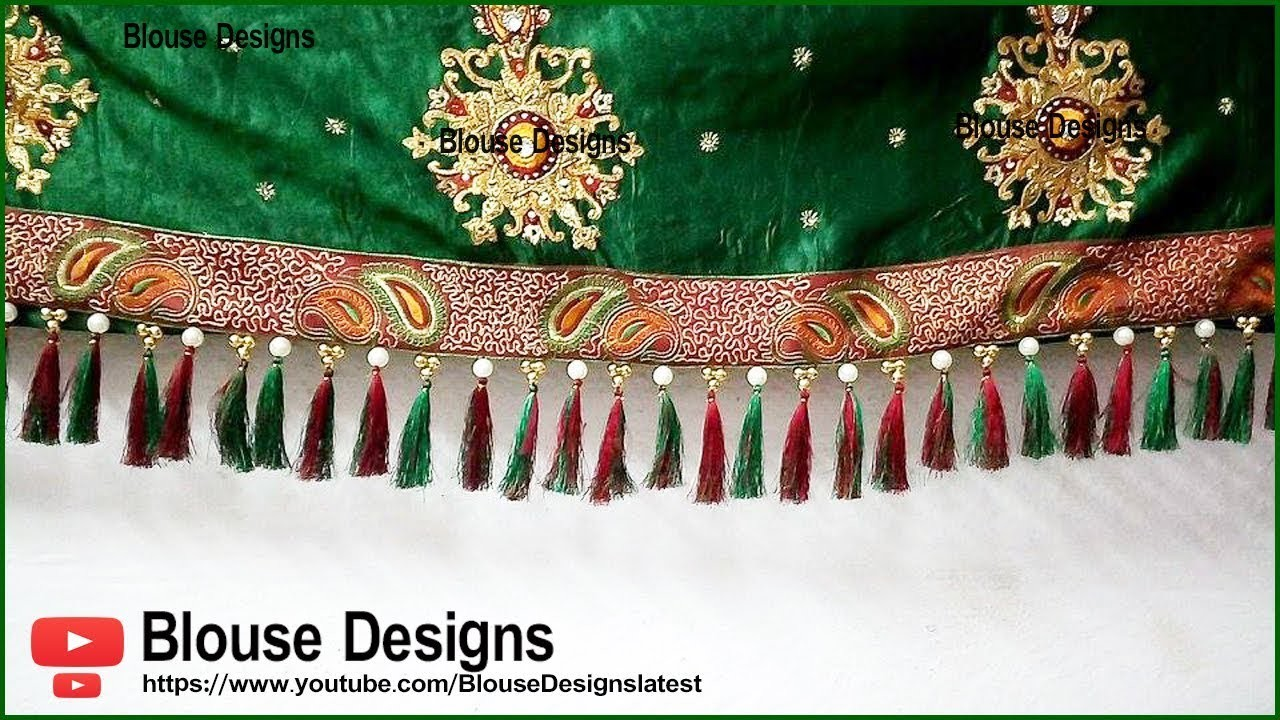 4f1c6ed96893b6 Saree kuchu designs with beads, saree kuchu new designs, saree tassels, saree  kuchu designs videos