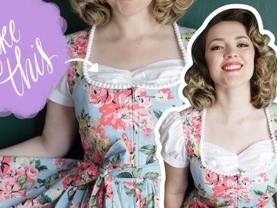 Sewing a Dickie for your Dirndl   Butterick 6352   Retro Rebuild