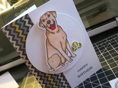 Tutorial: How to Create a Labrador Retriever Handmade Card birthday card JessicaLynnOriginal