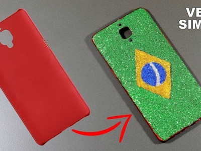 Amazing DIY Brazil Flag Phone Case | How To Make Brazil Flag Phone Case