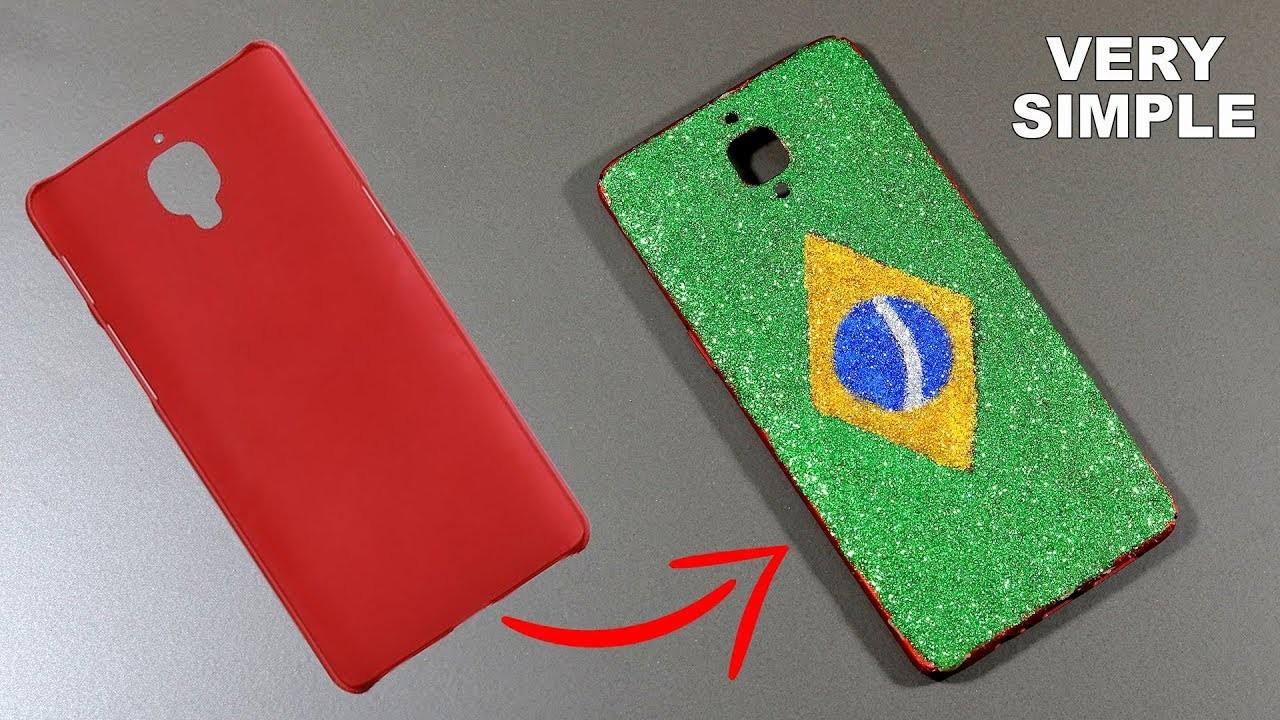 Amazing DIY Brazil Flag Phone Case | How To Make Brazil Flag Phone Case