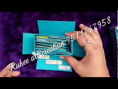 Birthday scrapbook | Birthday scrapbook ideas | birthday photo album video | Ruhee art creation gift
