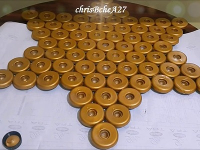 DIY# 93 WALL DECOR Using Recycled Bottle Caps