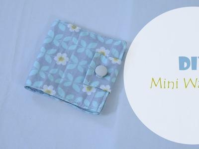 DIY easy to make fabric Mini Wallet