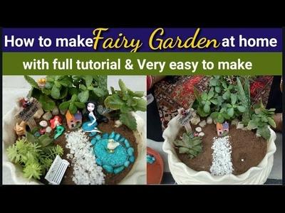 DIY #fairyGarden.How to make fairy Garden at home.घर पर फेरी गार्डन कैसे बनाएं????????????????