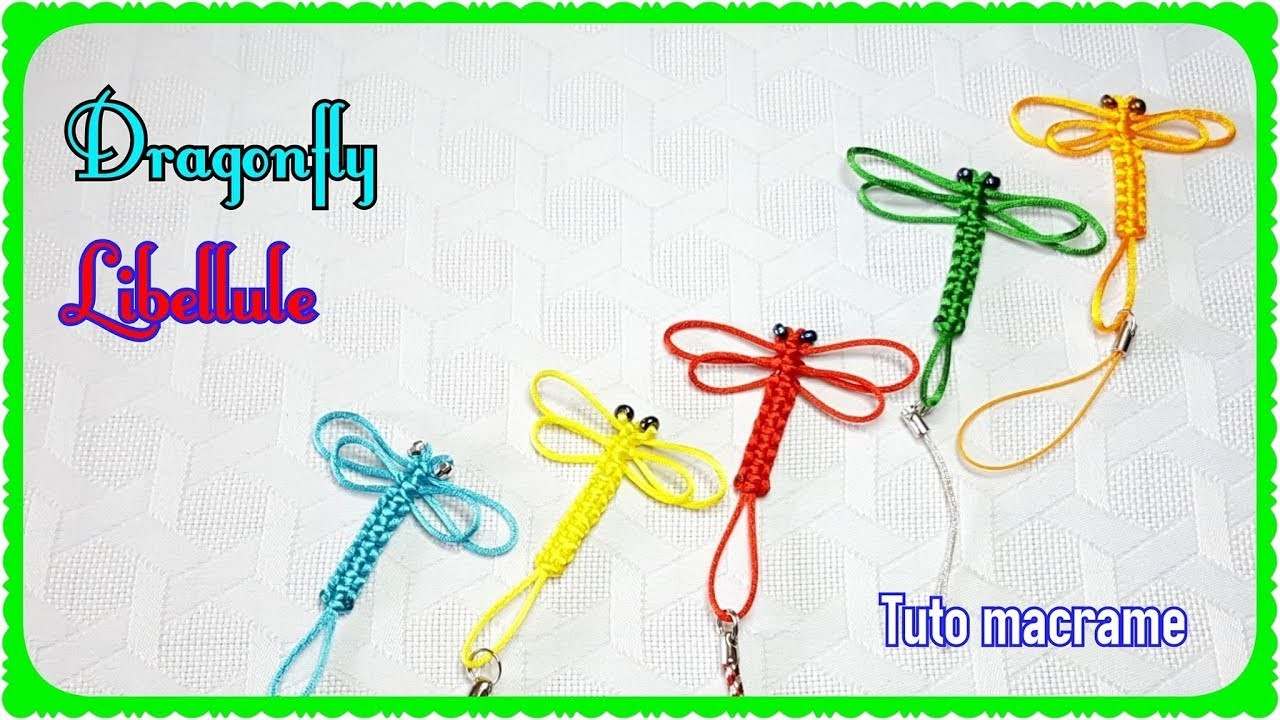 diy☆how to macrame the dragonfly☆comment faire une libellule