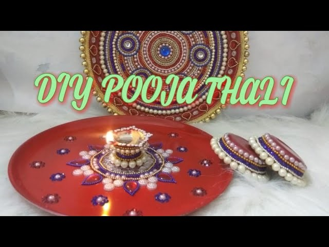 DIY How to make decorative pooja.aarti thali