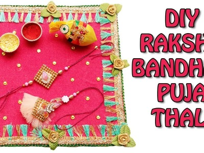 DIY: How to make Puja Thali for Raksha-Bandhan | Thali Decoration Ideas | Rakhi Special|