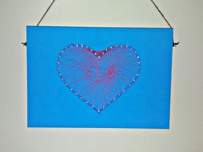 DIY String Art using Push Pins-DIY Wall Art.Room Decor