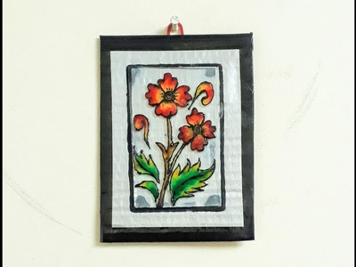 Glass painting for beginners-wall hanging.step by step tutorial