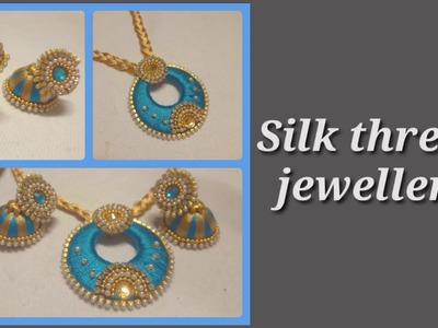 How to make silk thread jewellery II 2018 Designs II DIY Indian arts gallery