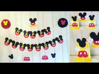 Mickey Mouse Birthday Decorations DIY