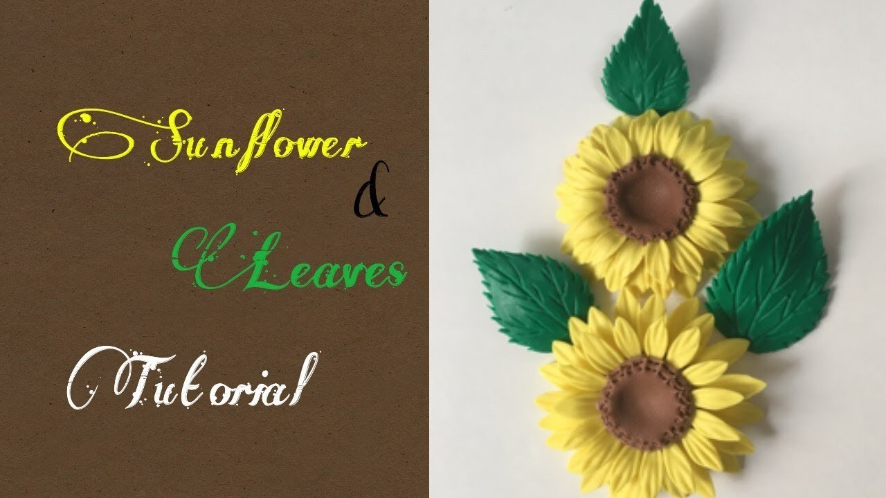 Sunflower & leaf tutorial || How to make flower cutter with empty tin.can || Using simple tools