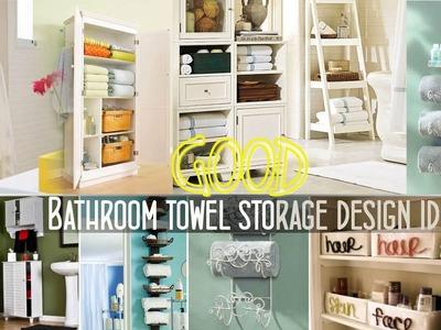 Top 40+ Bathroom Towel Storage Design ideas | Best DIY Wall Mounted Rack Cabinets Walmart Shelf 2018