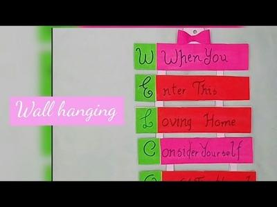 #WELCOME wall hanging DIY||Prachi Muskan Crafts
