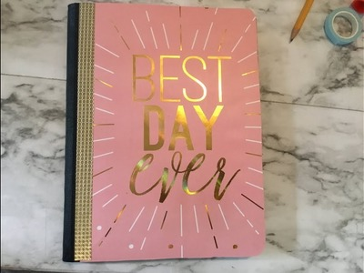 Diy dollar tree composition book to PLANNER❤️????