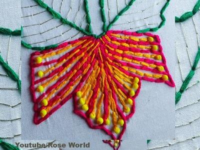 Hand embroidery neckline design for kurti.blouses.churidar.dress neck embroidery tutorial