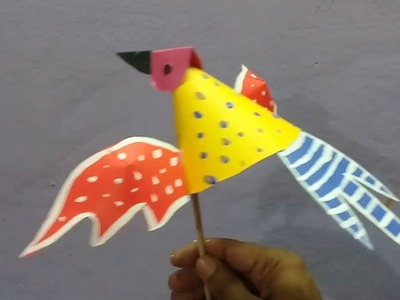 How to make bird puppet by paper