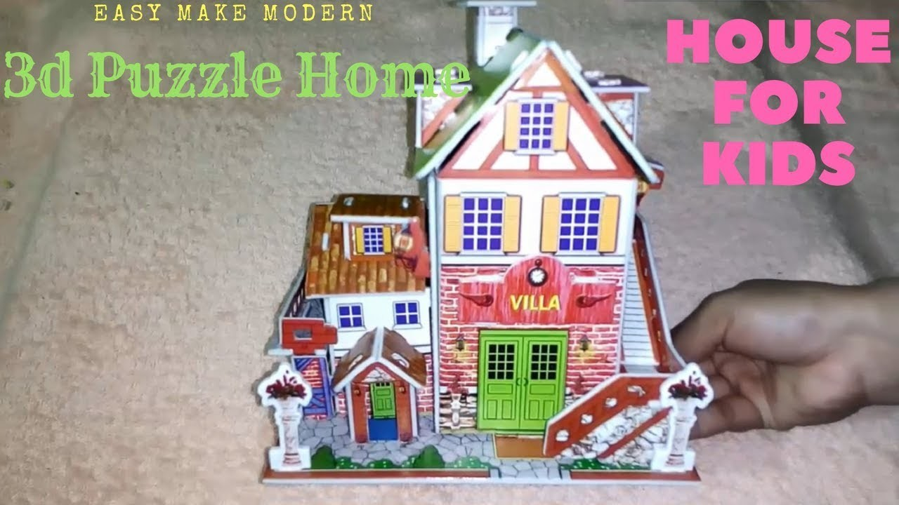 How To Make Puzzle House Or Home Toys For Kids Easy Make Modern 3d
