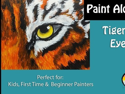 How to paint a Tiger Eye????????Easy: step by step- Great fun for any age, & beginner painters