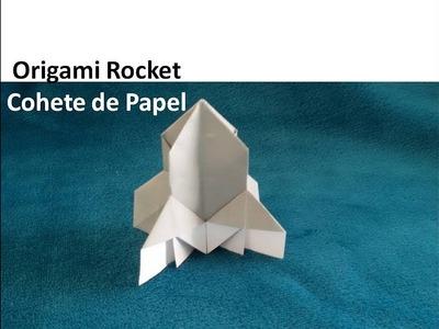 #Origami Rocket - Cohete espacial de Papel