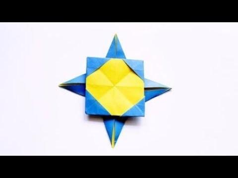 Origami Star Picture Frame ????️, Easy Origami Tutorial Seri