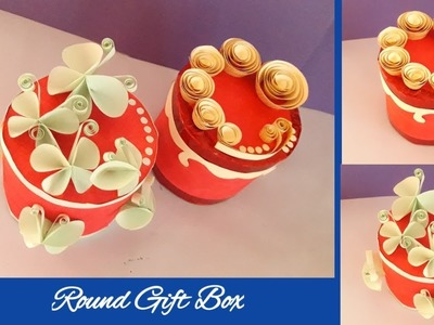 Round Gift Box    make round gift box from paper    easy and beautiful