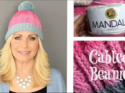 ???? Cable Crochet Pom Pom Beanie ????