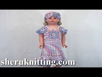 Crochet Baby Girl Dress Tutorial 72 Part 4 of 5 Bruges Lace Crochet