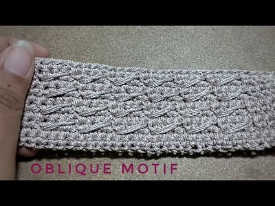 Crochet || how to make oblique motif by sc