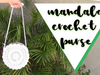 Crochet Mandala Purse. Crochet Circle Purse