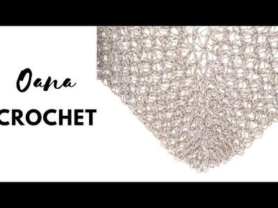 Crochet Stella shawl.scarf by Oana