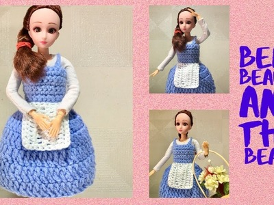 Doll Dress Crochet. Inspired by Disney Princess Belle