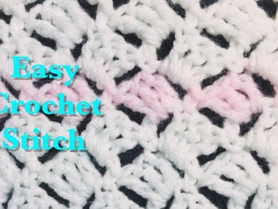 Easy crochet stitch for crochet baby blankets and more #134