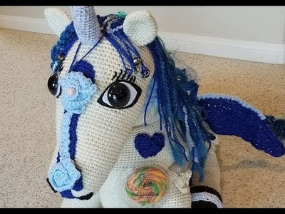 Helenmay Crochet Large Wild Mustang Horses and Unicorn Part 4 of 5 DIY Video Tutorial