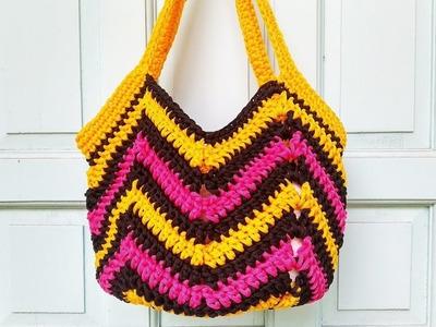 How to Crochet a Market.Beach Bag
