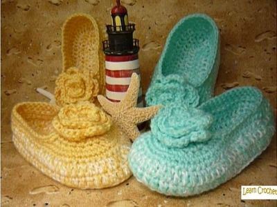 "How to Crochet a Pair of Ladies Slippers - FREE Pattern in the ""SHOW MORE"" Below!"